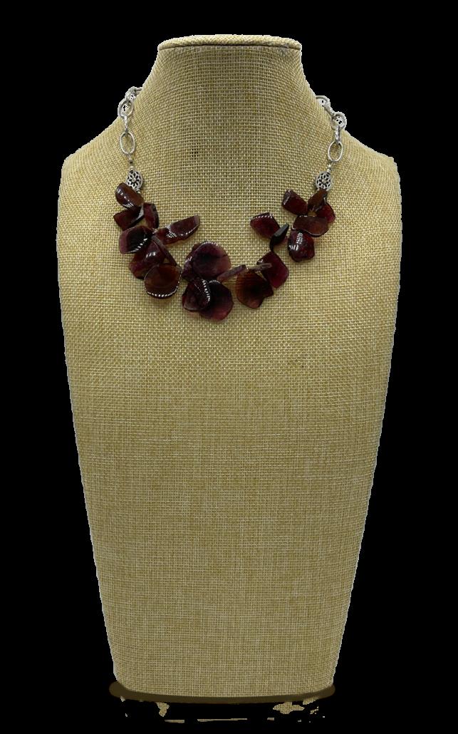 Pink Pebbles Tourmaline Collar Necklace