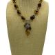 Wheat Lux Faceted Amber Y-Necklace