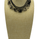 Zebra Trail Onyx and Rutilated Quartz Multi-Strand Collar Necklace