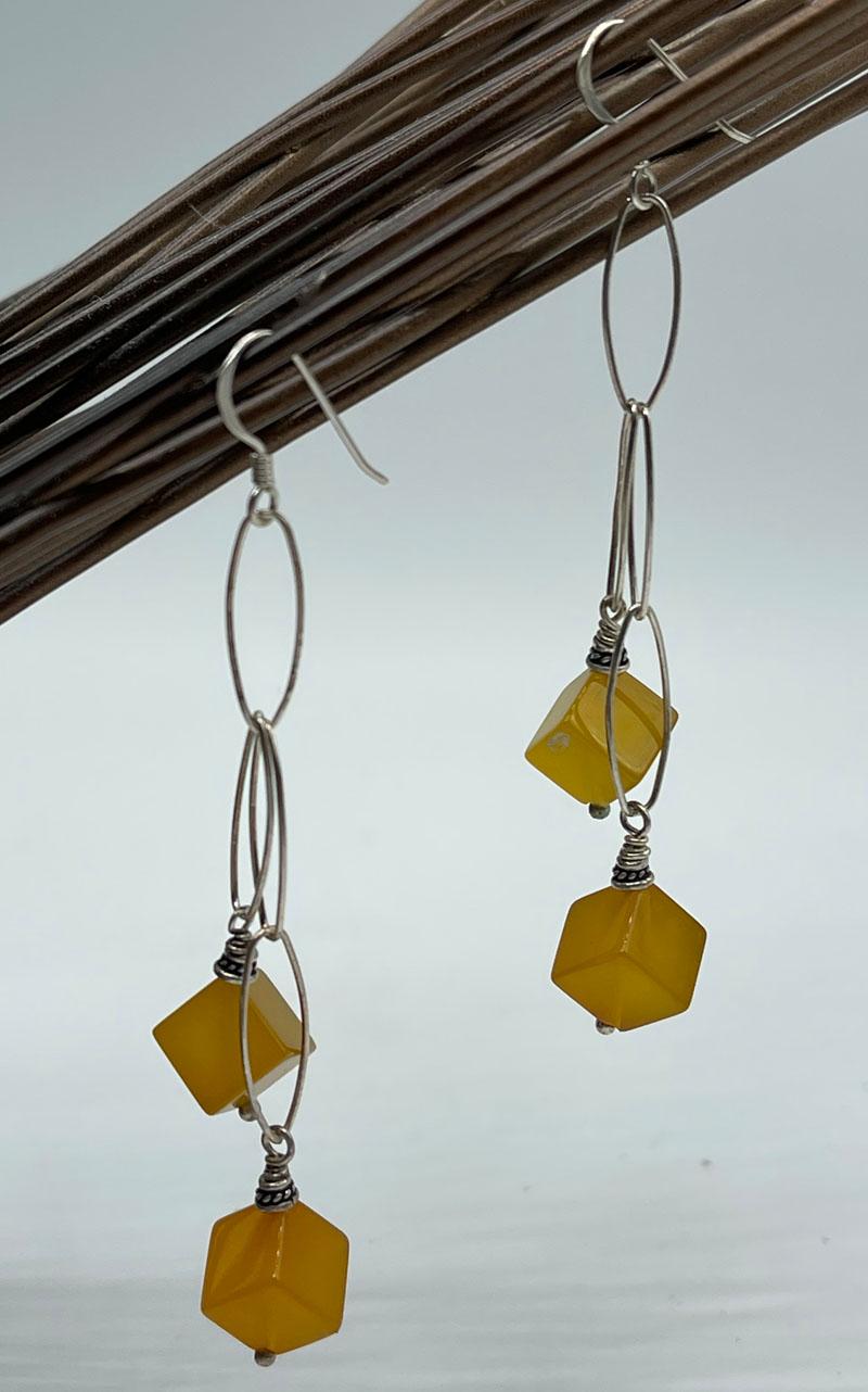 Pineapple Jasper Linked Statement Earrings