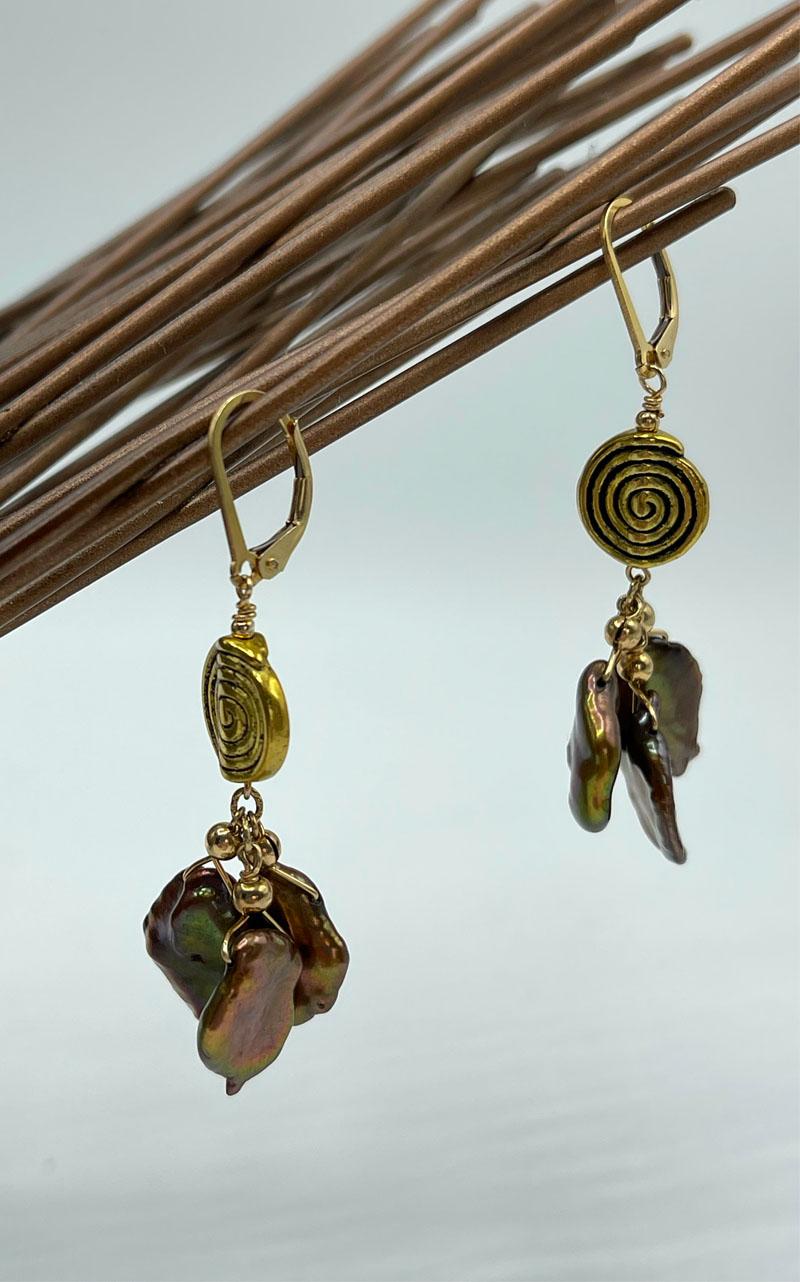Island Love Keshi Pearl Tassel Earrings