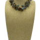 Ocean Floor Slender Labradorite Collar Necklace
