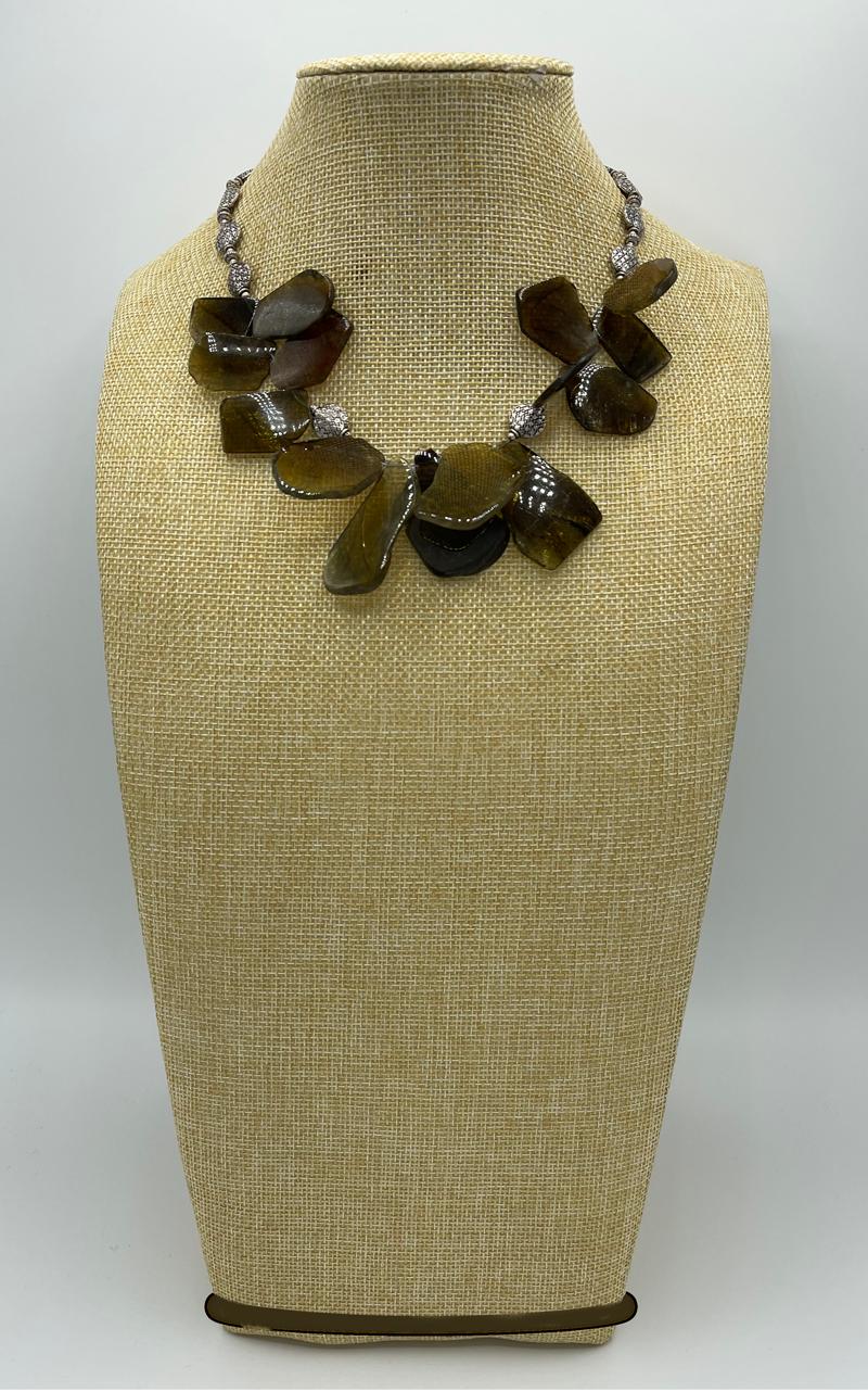 Sea Pebbles Tourmaline Collar Necklace