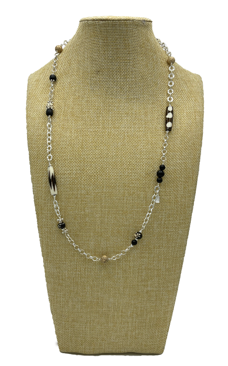 Long Length Layered Necklace