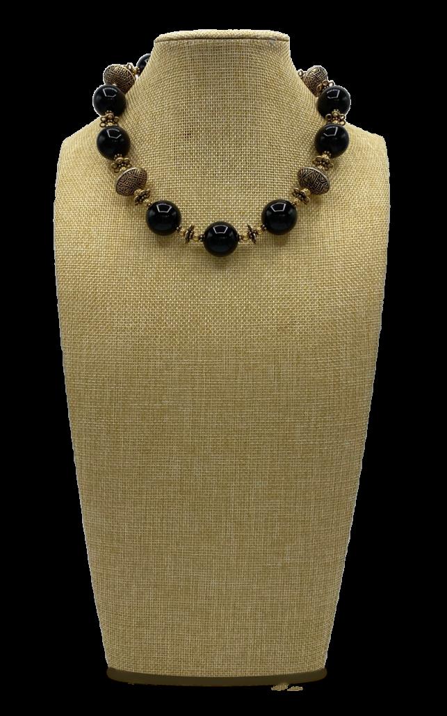 Night Hawk Onyx Collar Necklace